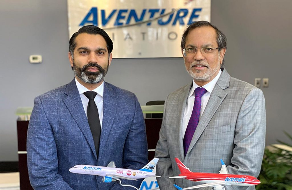 Aventure Aviation President Talha Faruqi and CEO Zaheer Faruqi