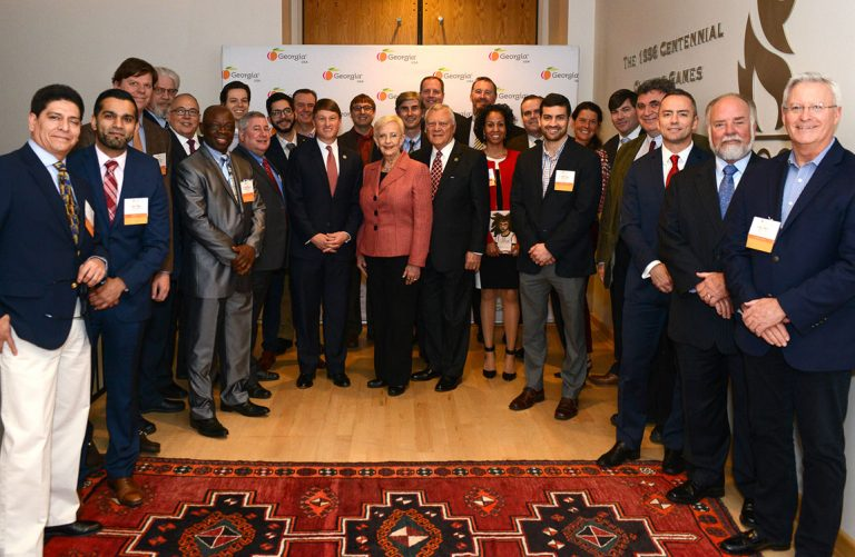 Attendees at the 2017 Go Global reception, held at the Atlanta History Center