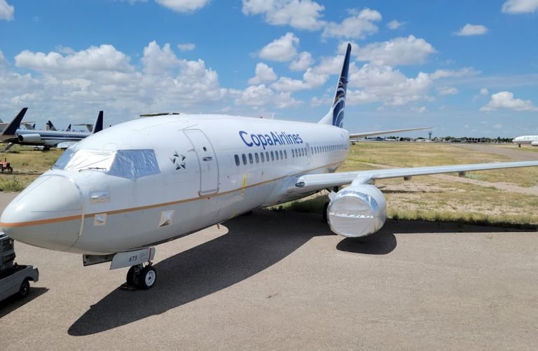 Copa Airlines 737NGprepared for storage on the ground