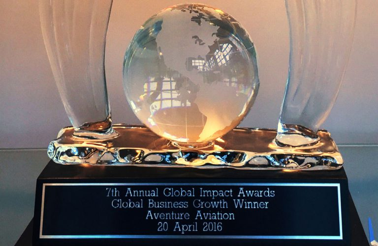 Aventure Aviation's Metro Atlanta Chamber of Commerce Global Impact Award, in the global business growth category